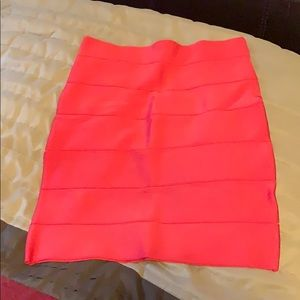 Bebe Red Bandage Skirt